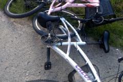 Acidente envolve uma moto e duas bicicletas na rod. Antônio Heil