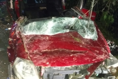 Carro cai em ribanceira em Botuverá (Foto: Corpo de Bombeiros)