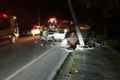 Acidente com vítima fatal e um ferido na Rua Florianópolis - Foto: Corpo de Bombeiros