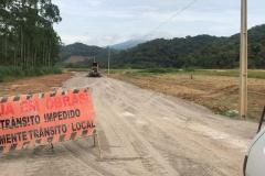 Obra na Estrada da Fazenda tem avanços significativos durante o fim de ano