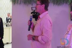 Pastor Edelcio Tetzner, da Igreja Evangélica de Confissão Luterana, durante fala no evento