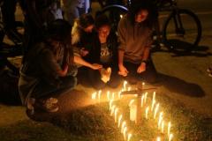 Ciclistas fazem ato de luto e protesto na Avenida Primeiro de Maio