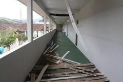 Ventos provocam danos em Brusque e Guabiruba