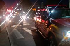 Acidente fere duas vítimas após colisão na ponte Arthur Schlosser