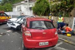 O acidente ocorreu por volta das 16h20 desta quinta-feira, 17