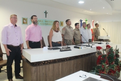 Evento na Câmara Municipal marca entrega de viaturas para PM de Guabiruba
