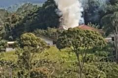 Internauta encaminhou imagem do incêndio ao Jornal da Diplomata