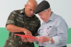A solenidade homenageou o combatente da Segunda Guerra Mundial, Arnaldo Lana