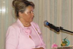 Miriam Evangelista Ribeiro durante posse festiva onde assumiu como nova presidente da RFCC de Brusque