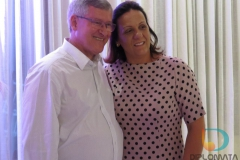 Prefeito de Guabiruba, Matias Kohler, e sua esposa Patrícia Heiderscheidt