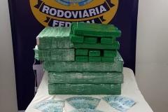 O motorista e uma passageira disseram que estavam trazendo a droga da cidade de Céu Azul (PR) até o litoral catarinense