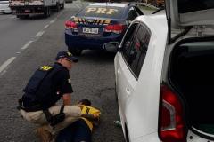 Carro foi roubado há duas semanas em Brusque
