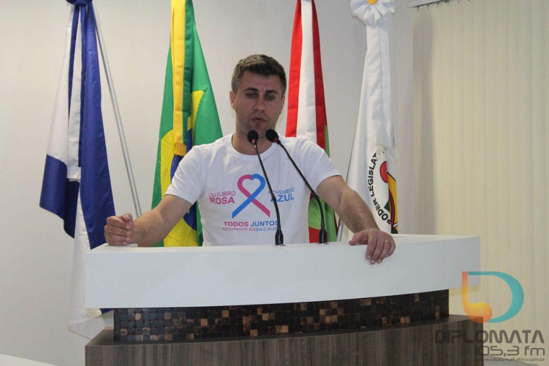 Cristiano Kormann, na Câmara de Vereadores de Guabiruba