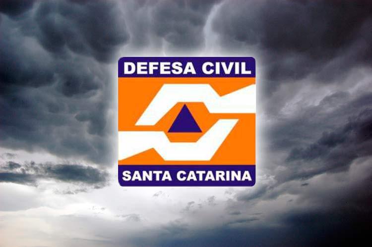 A Defesa Civil de Brusque alerta para ocorrência