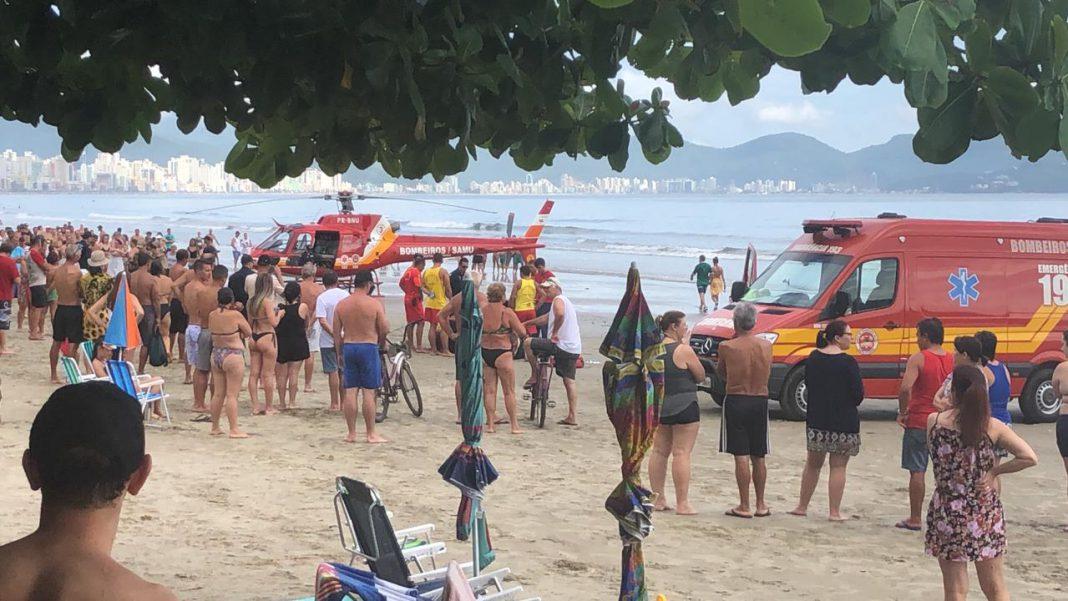 Morador de Brusque morre na praia do Perequê vítima de infarto