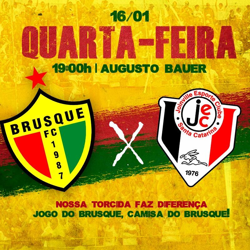 Brusque x Joinville quarta dia 16/01