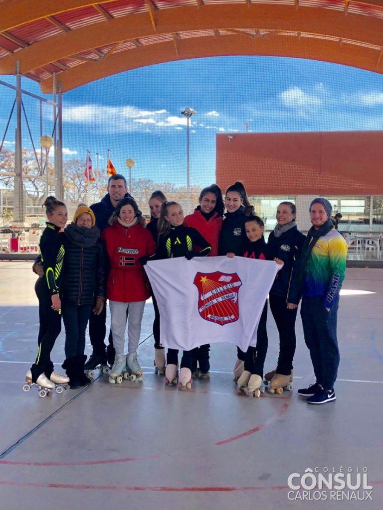 Patinação do Colégio Cônsul se especializa na Espanha