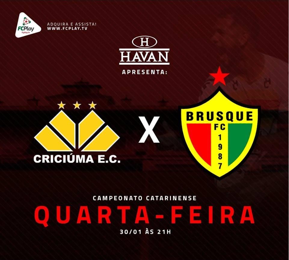 Brusque enfrenta o Criciúma em busca da primeira vitória no estadual