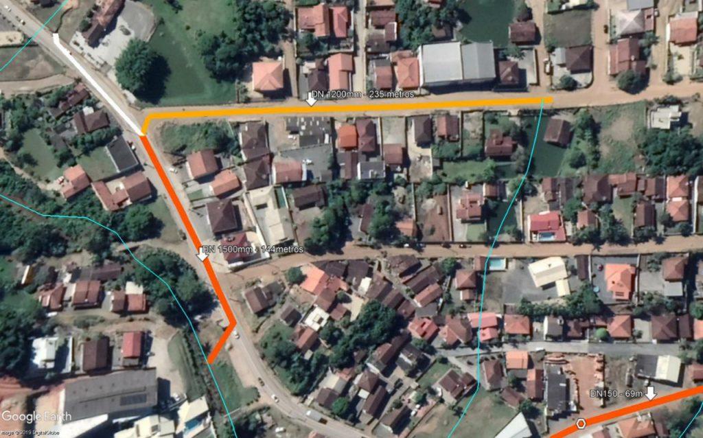 Macrodrenagem rua Santa Cruz