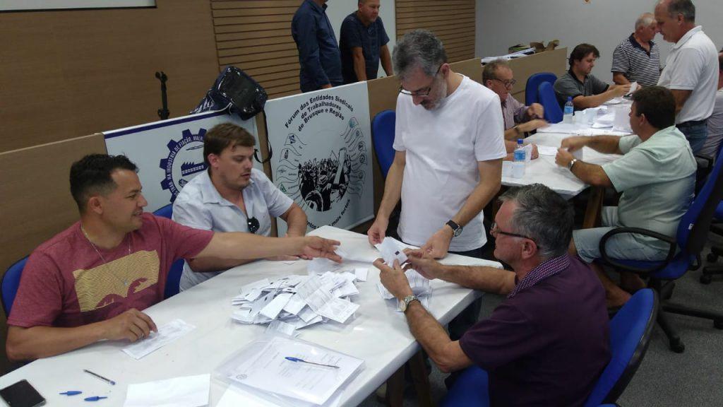 Apuração dos votos da eleição para presidente do Sintrafite