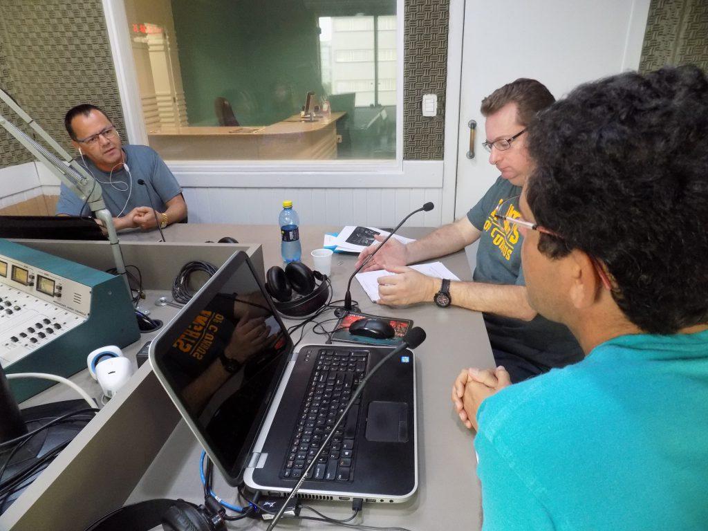 Entrevista com professores Ronaldo Uller e professor Zezinho no Jornal da Diplomata