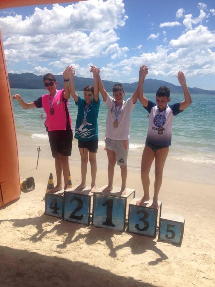 Nadadores da ABAIN/FME conquistam medalhas no Circuito Travessias