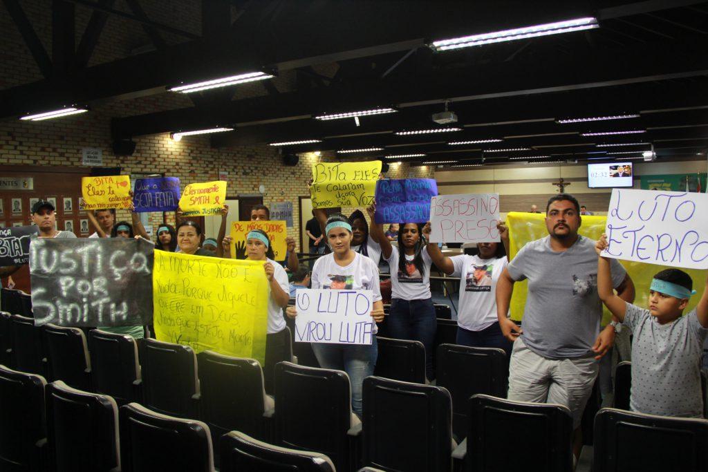 A sessão da Câmara também foi marcada pela presença na plateia dos amigos e familiares de Ismith Norberto Oliveira
