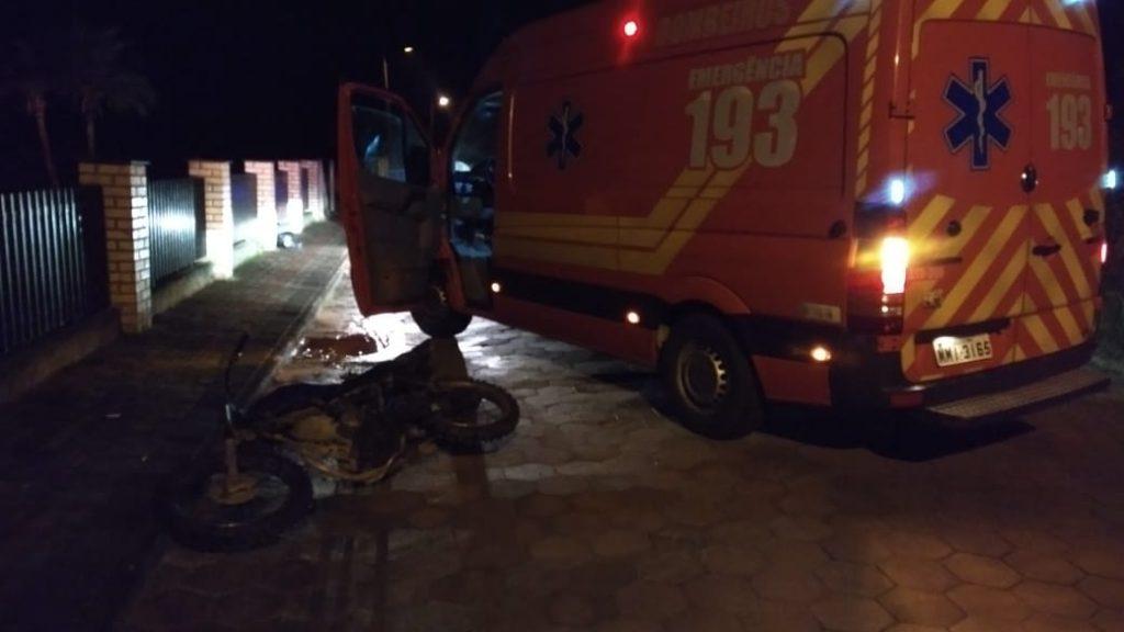 Homem fica gravemente ferido em acidente no bairro Lageado Baixo