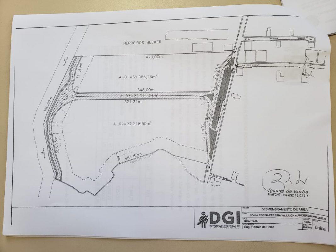 Prefeitura de Brusque projeta novo acesso entre a Rua Itajaí e Av. Beira Rio