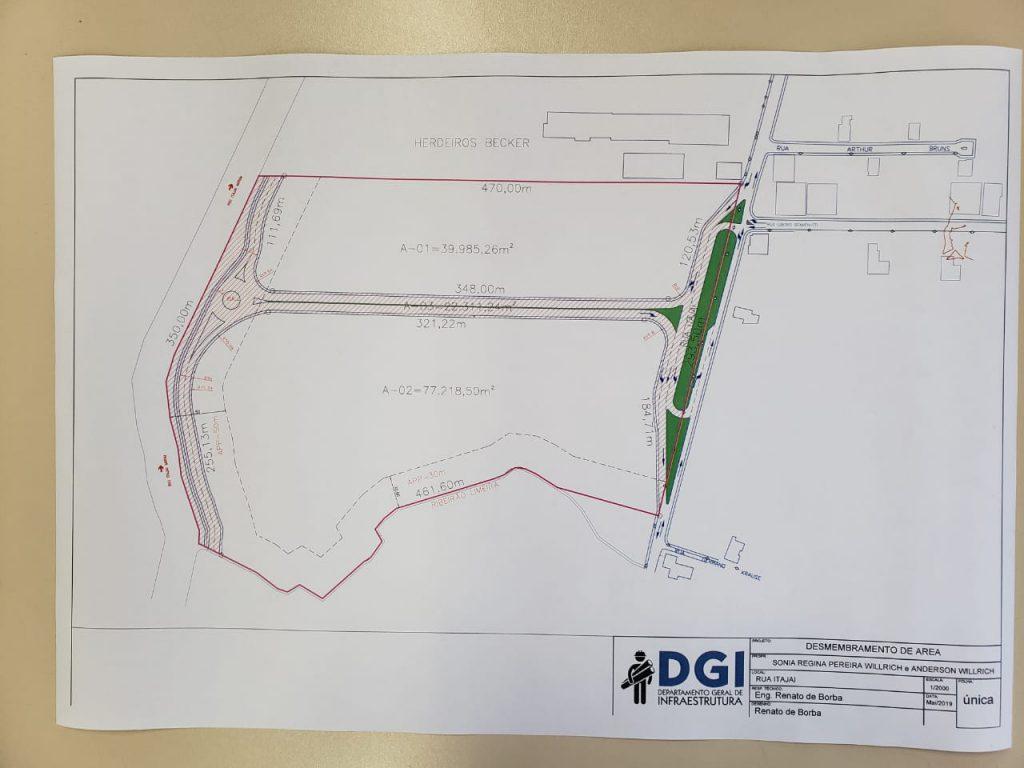 Prefeitura de Brusque projeta novo acesso entre a Rua Itajaí e Av. Beira Rio (Foto/Secom)