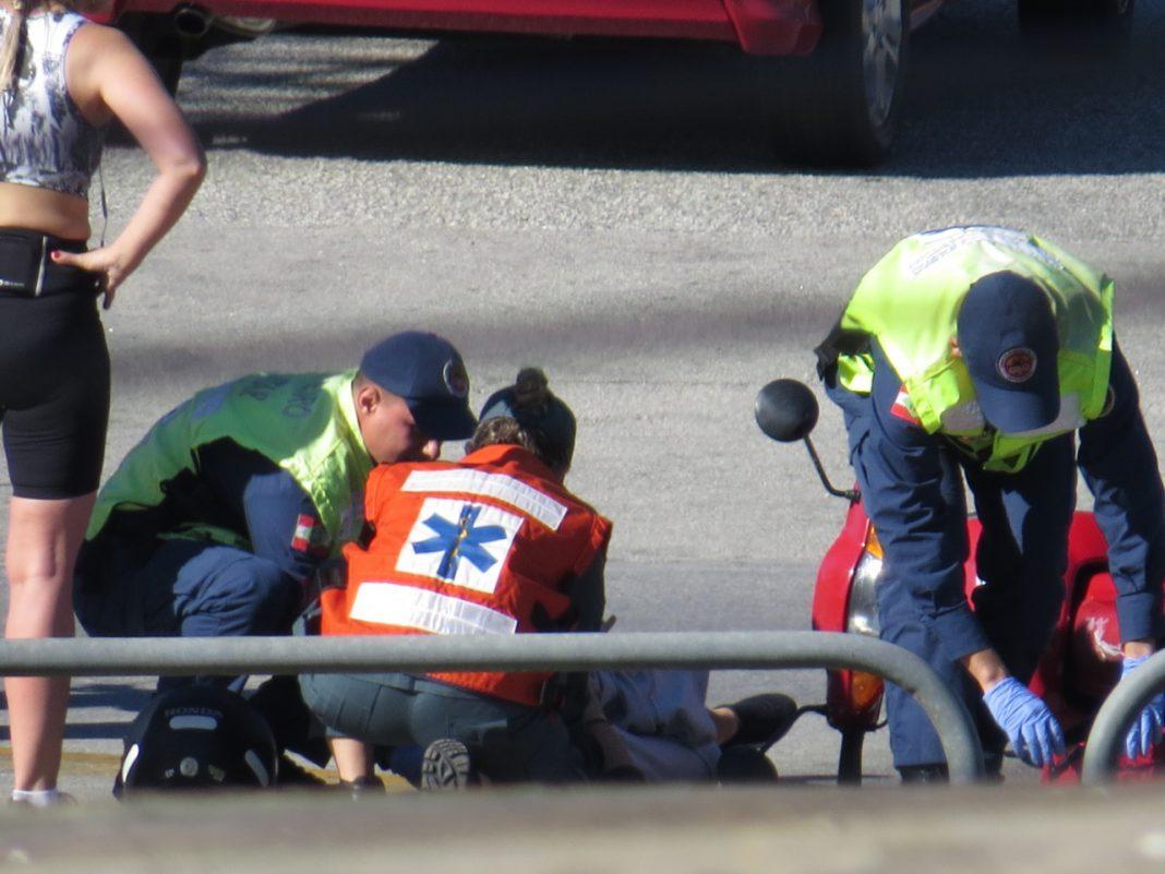 Bombeiros atenderam colisão entre motos na Avenida Bepe Rosa