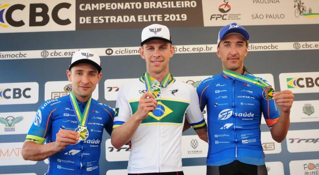 André Gohr vence na categoria Elite pelo  Campeonato Brasileiro de Ciclismo (Foto: Luis Claudio Antunes/Bile76)