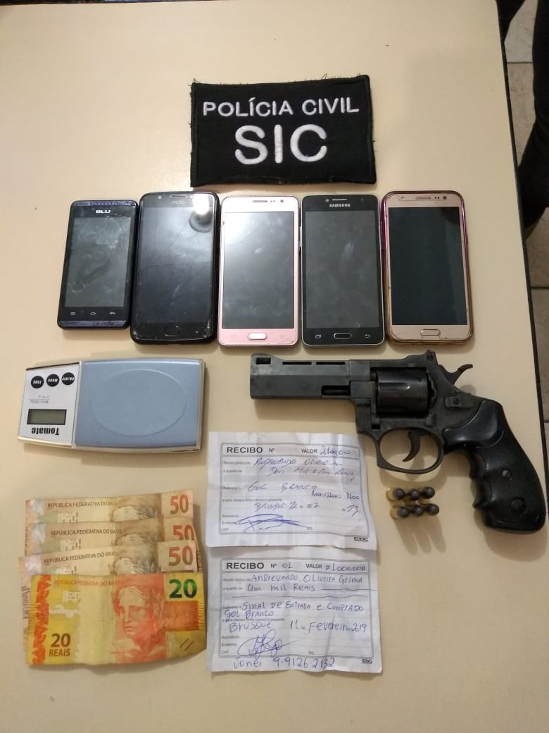Polícia Civil prende casal suspeito de envolvimento em assalto