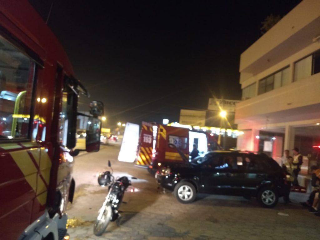 O acidente foi registrado na rodovia Antônio Heil, no bairro Nova Brasília. (Foto: Corpo de Bombeiros)