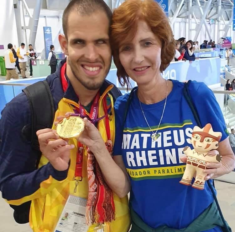 Matheus Rheine conquista ouro do bicampeonato nos Jogos Parapan (Reprodução/Facebook)