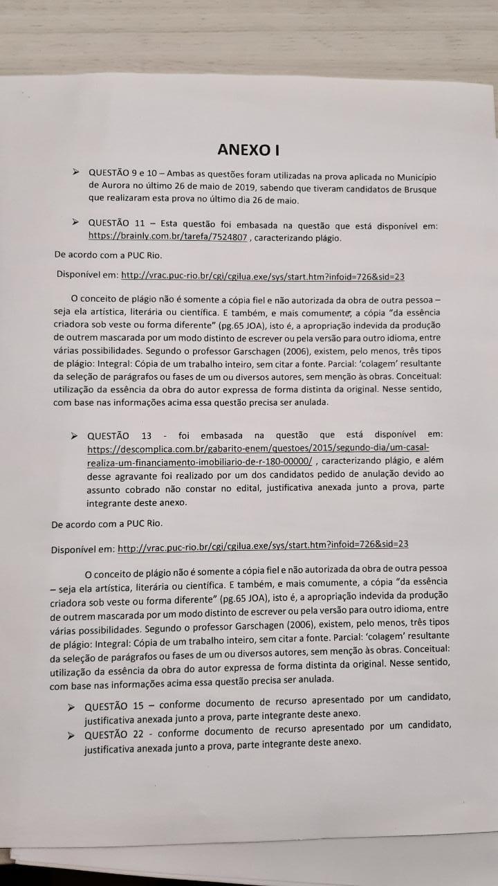 Petição no Ministério Público pede anulação da prova de educaçãoPetição no Ministério Público pede anulação da prova de educação