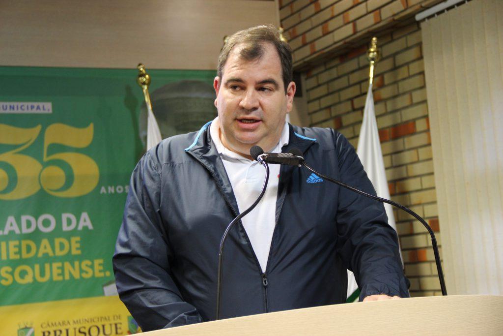 Diretor geral do Instituto Federal Catarinense (IFC) – Campus Brusque, Hélio Maciel Gomes (Foto: Assessoria/Câmara)