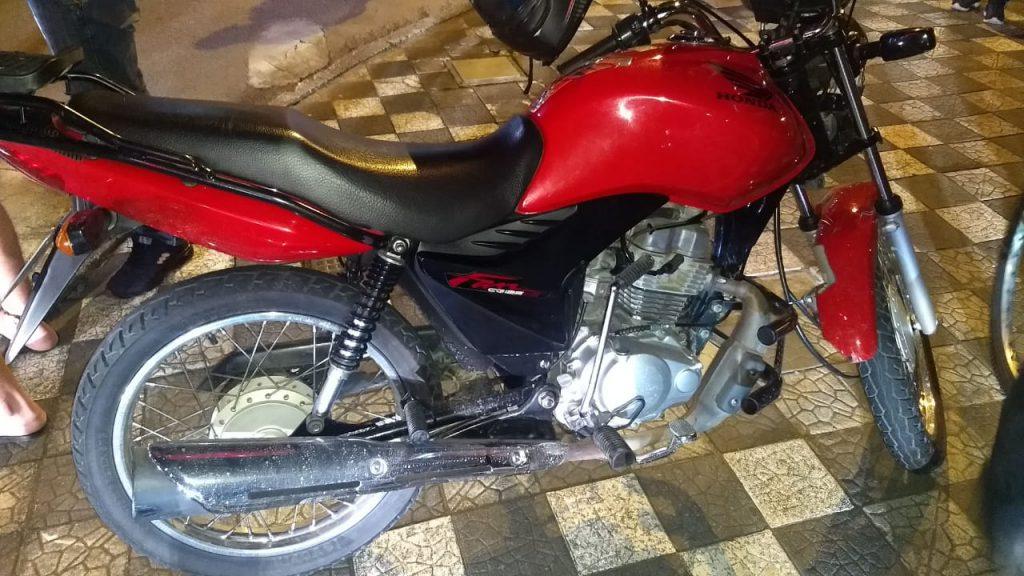 Colisão bicicleta e moto