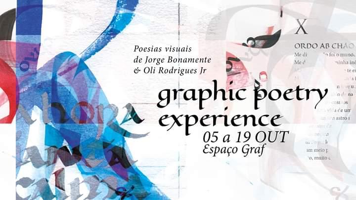 Neste sábado (5), abertura da exposição Grafic Poetry, no Espaço Graf