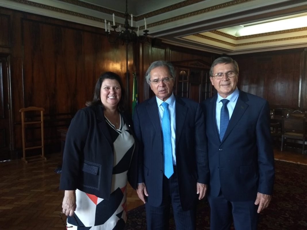 Rita Conti se encontra com Ministro da Economia, Paulo Guedes