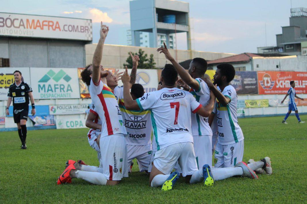 Time Brusque Copa SC/Foto: Lucas Gabriel/BFC