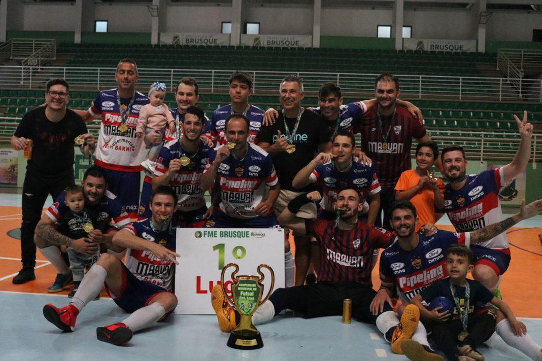 Pipeline é a grande campeã do Municipal de Futsal Amador de Brusque 2019