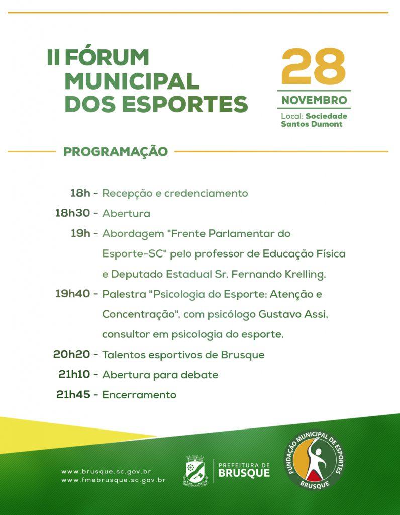 FME realiza o Fórum Municipal dos Esportes, no dia 28