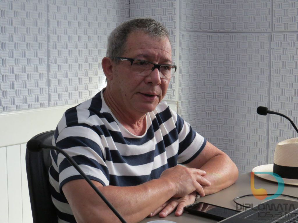 Diretor do CITI, Vanderlei Albino, no Jornal da Diplomata. (Foto: Diplomata FM)