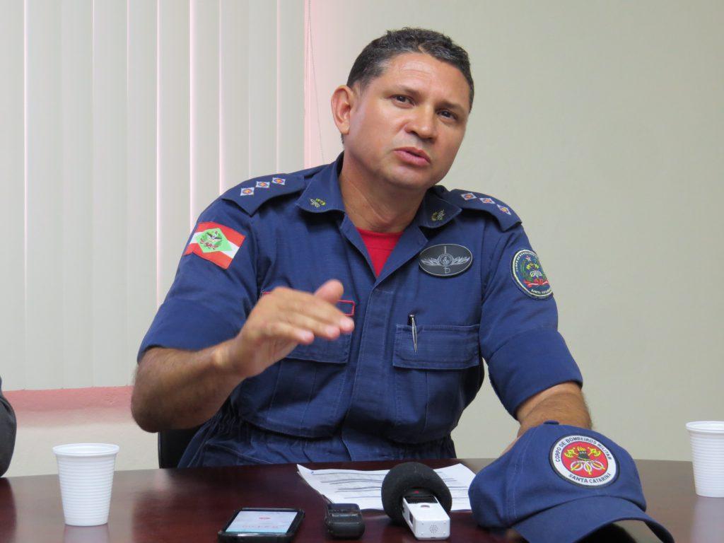 Jacson Luiz de Souza, comandante Corpo de Bombeiros