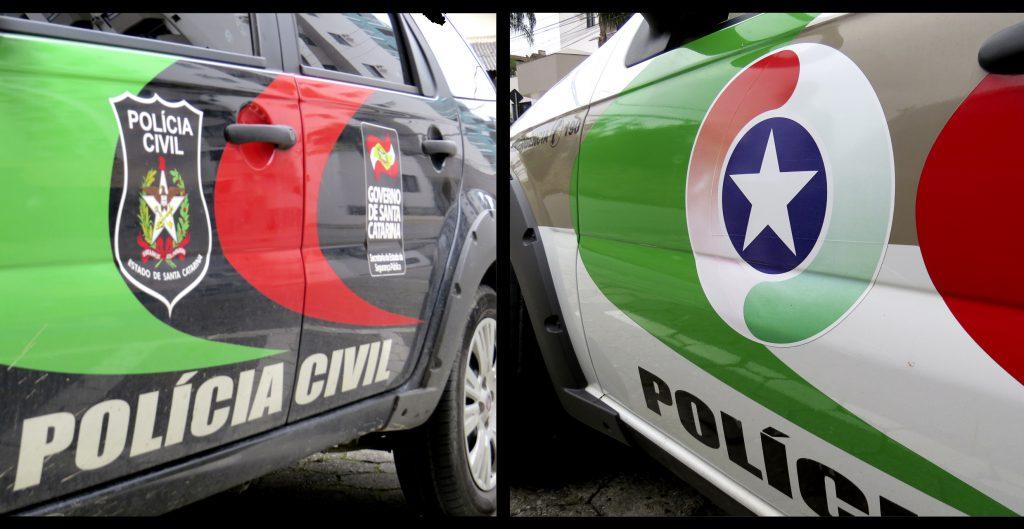 PM, Polícia Militar; delegacia
