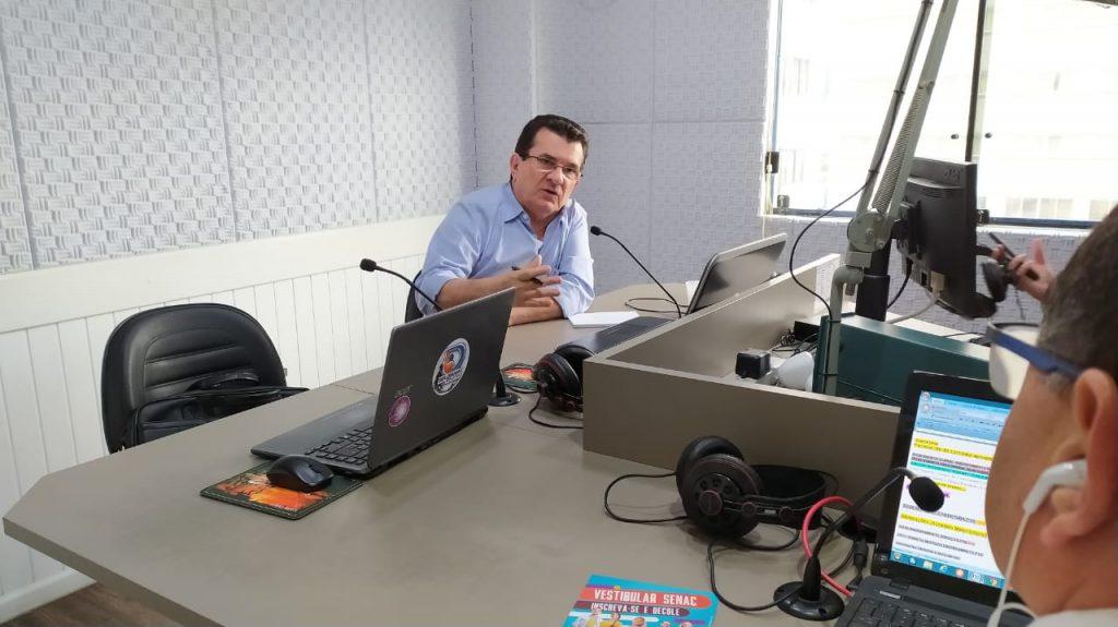 diretor-presidente do Samae, Dejair Machado, esteve no Jornal da Diplomata