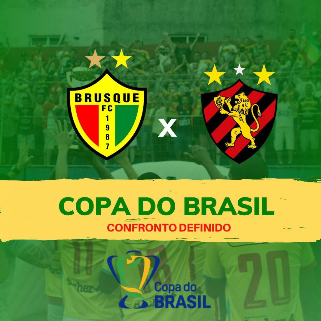 Brusque FC x Sport Recife pela primeira rodada da Copa do Brasil 2020