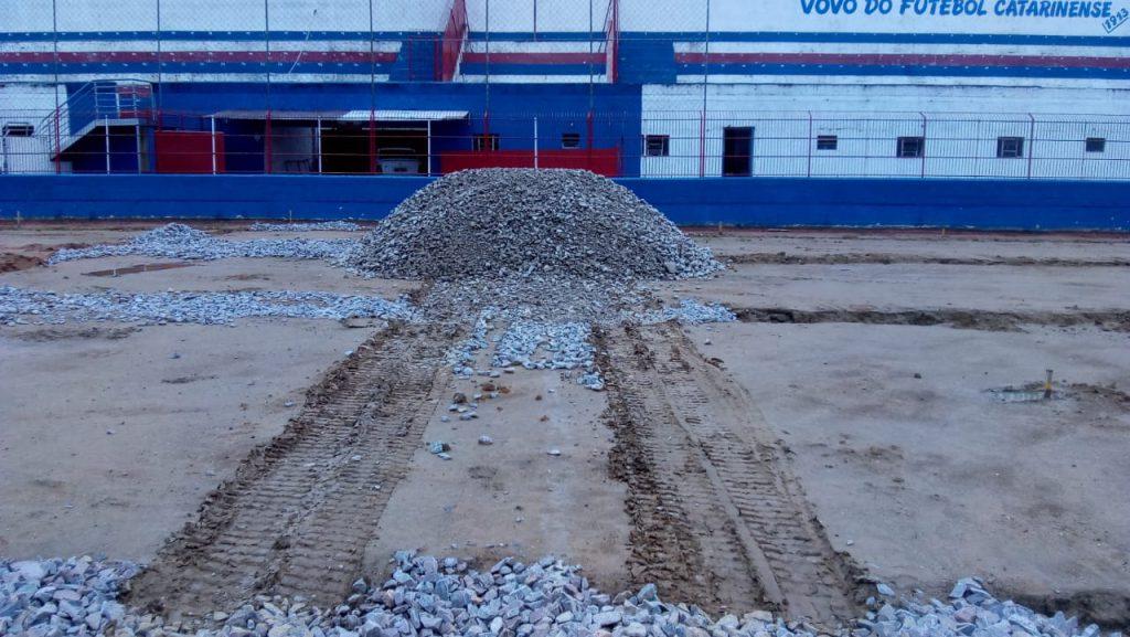 Obras estão em ritmo acelerado no Augusto Bauer para o Campeonato Catarinense de 2020.