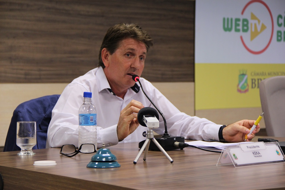 vereador Gerson Luís Morelli, o Keka, concedeu entrevista coletiva